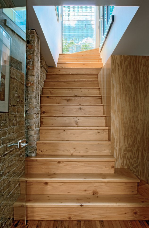 The stairs are made of reclaimed timber.  Photo 5 of 7 in Solid Gold