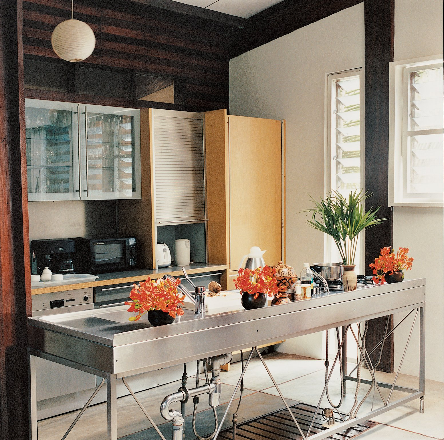The Bulthaup workbench and kitchen cabinets were imported from L.A.  Photo 6 of 9 in An Inno-native Approach