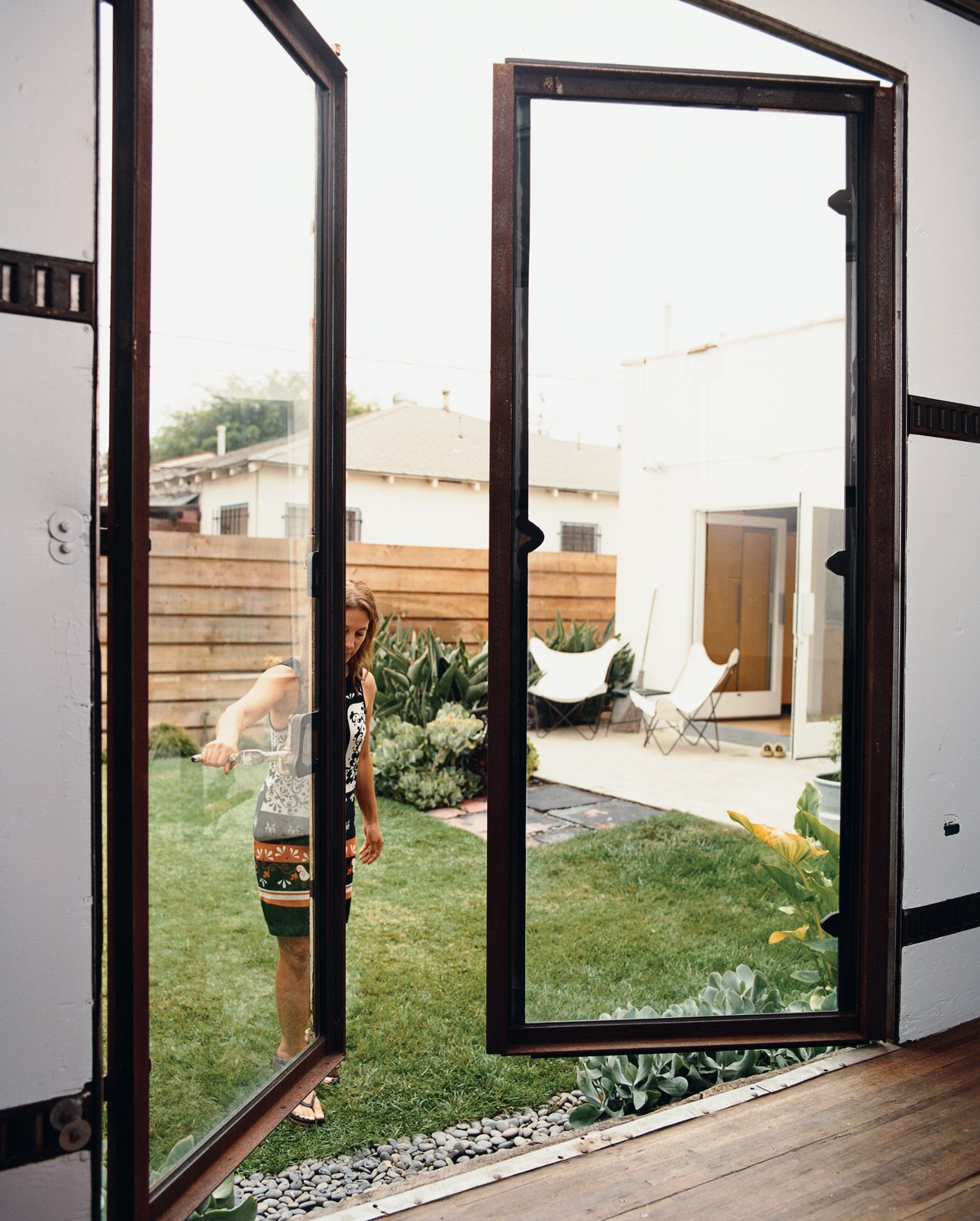 The first phase of rehabbing the backyard trailer was fabricating custom steel-and-glass doors.  Photo 3 of 14 in Method Lab