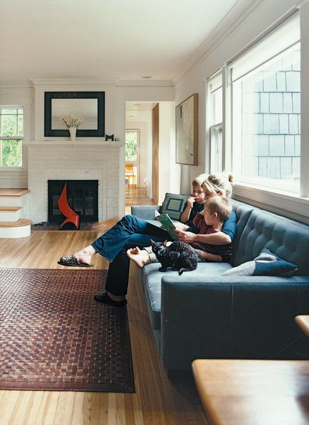 The living room remains largely unchanged from when it was built in 1922.  Photo 6 of 9 in Minneapolis, MN