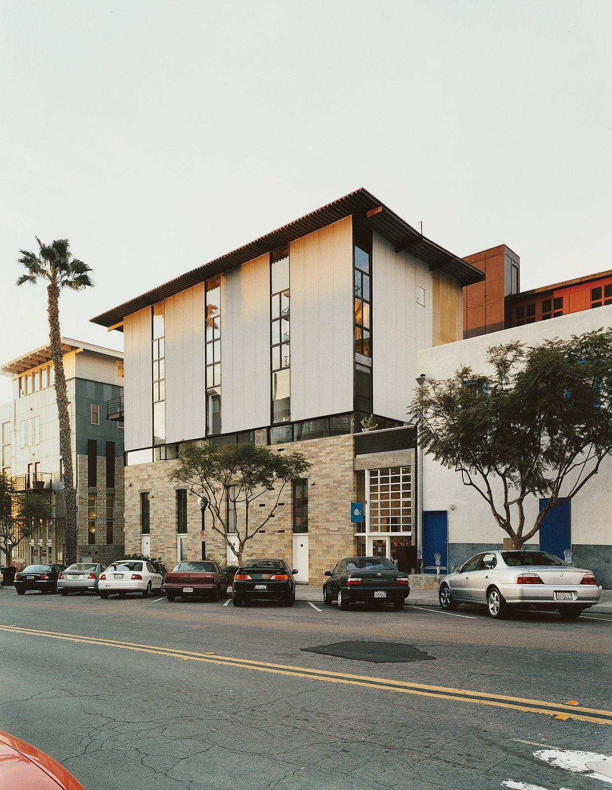 Exterior and Apartment Building Type The Schafers' building, The Merrimac, built in 1999, is one of San Diego's first modern, mixed-use redevelopment projects.  Photo 3 of 11 in Modern Mixed Use in San Diego