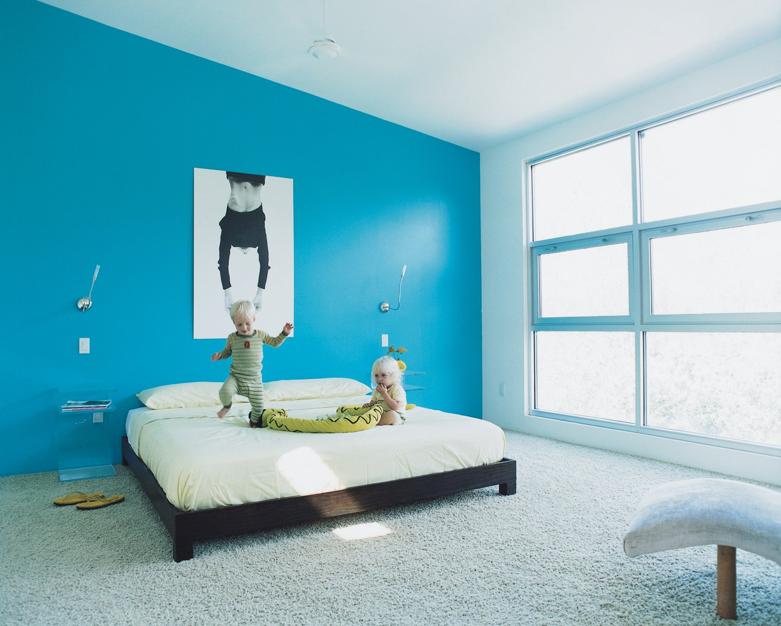 Sebastien and Adrienne find new uses for their parents' bed by West Elm.  Photo 6 of 9 in Escape From New York