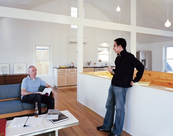 Schenk and Kaewlai on the second floor of Large, where Schenk eliminated the attic and several walls to create a more fluid and open space.  Photo 11 of 11 in Four Houses and a Future