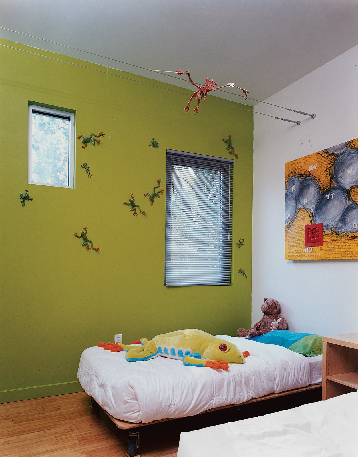 The boys' bedroom is outfitted with custom beds designed by Baird's studio.  Photo 13 of 13 in Baton Rouge Oasis