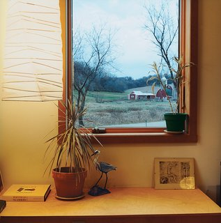 The home's windows perfectly frame views of the neighboring sights.