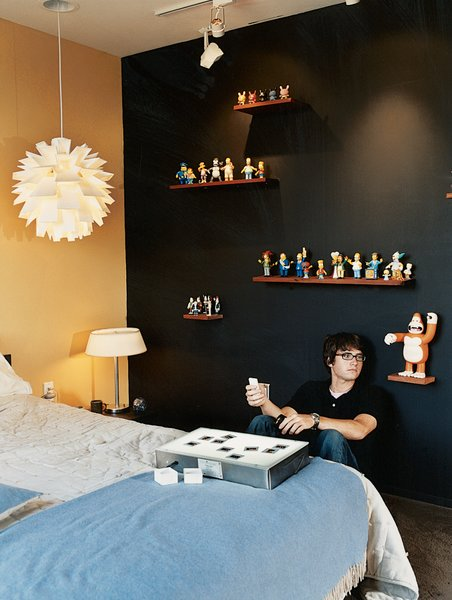 Bedroom and Bed Upstairs, the clutter-free bedrooms of Segal's teenagers reflect their father's less-is-more ethos.  Photo 8 of 10 in The Jonathan