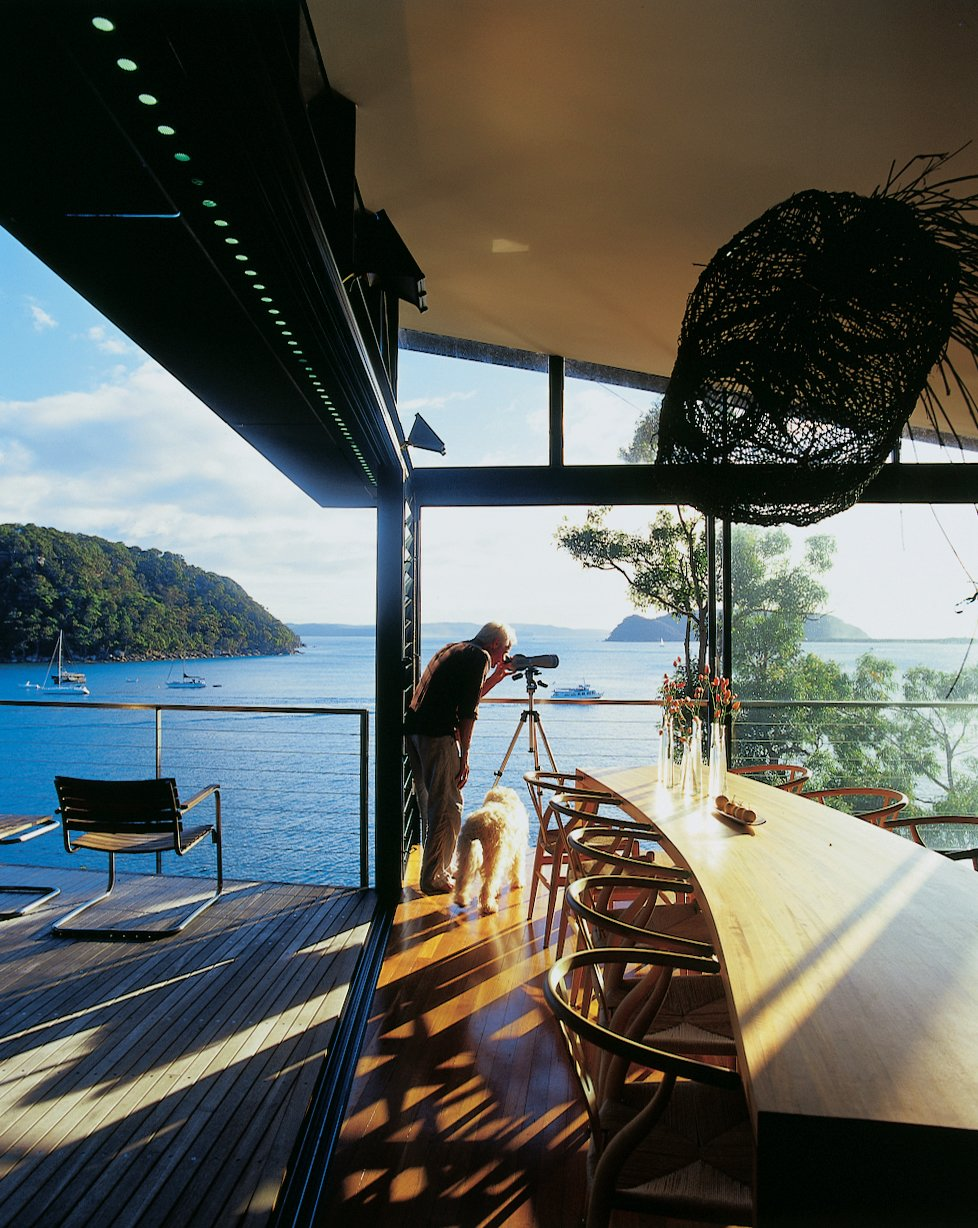 Dining Room, Table, and Chair �u  Photo 7 of 11 in Three Glass-and-Copper Pavilions Conquer the Cliffs