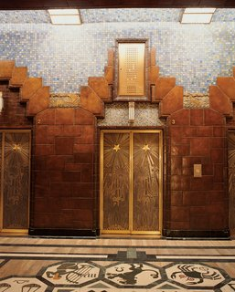 Vancouver is an extroverted city - Photo 5 of 7 - Lavish tile treatment and intricately-etched elevator doors are found inside the Art Deco Marine Building.