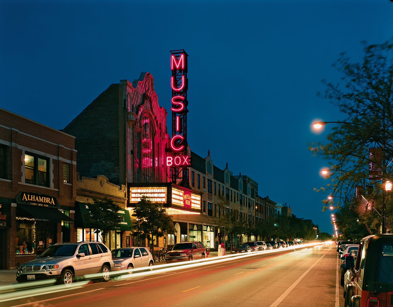 """Lynch calls the Music Box movie theater on Southport Avenue, designed by local architect Louis A. Simon in 1929, """"the last great independent"""" in Chicago. If you go, watch out for the theater's tireless protector, a ghost named Whitey who is said to still pace aisle four.  Photo 8 of 8 in The Real Chicago"""