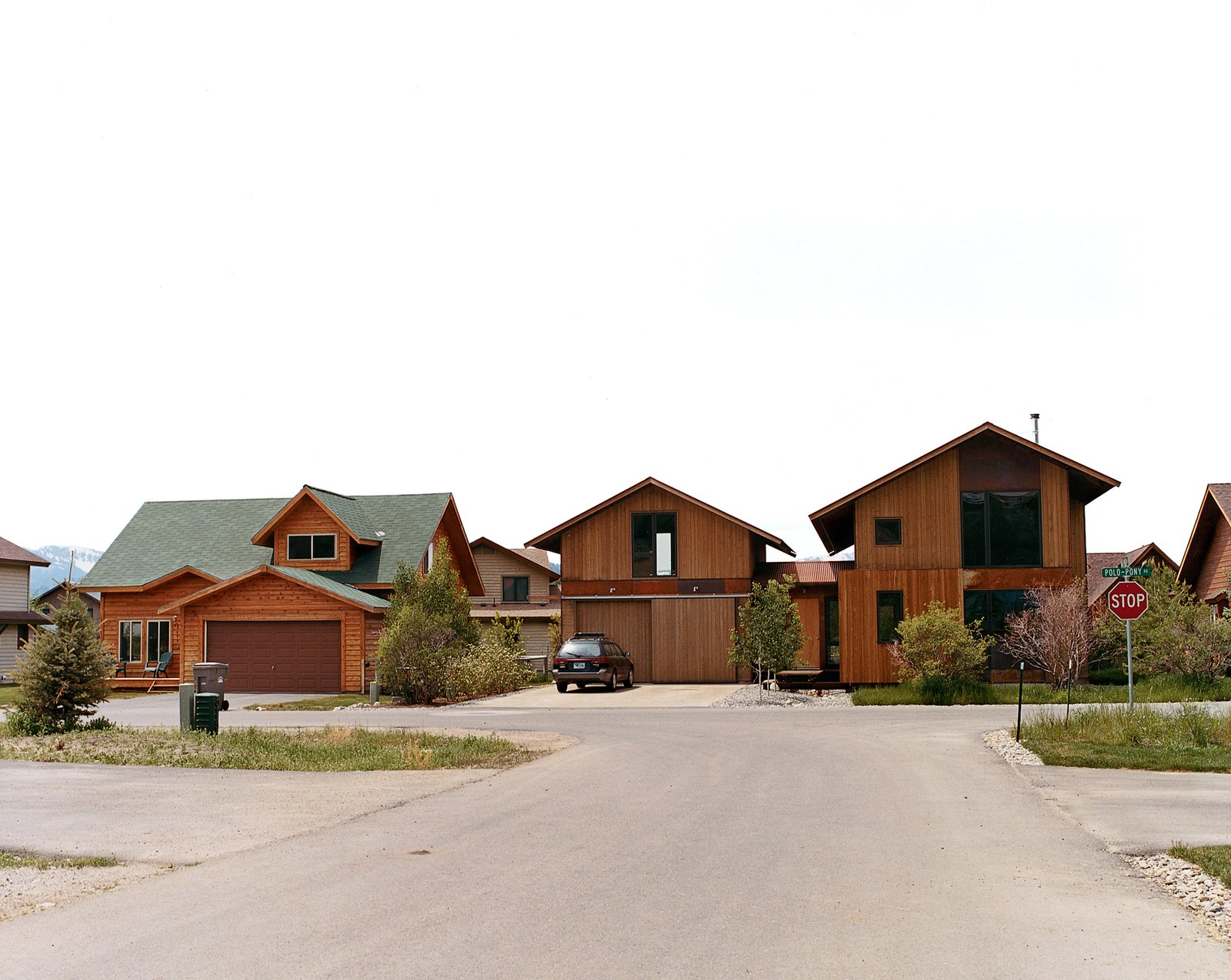 Located in a 280-lot subdivision composed of market-rate and deed-restricted lots, Andy Ankney's 1,400-square-foot house blends in well despite its large aluminum clad wood windows, cedar siding, Cor-Ten corrugated roofing, and oxidized steel siding panels.  Photo 3 of 10 in Jackson, WY