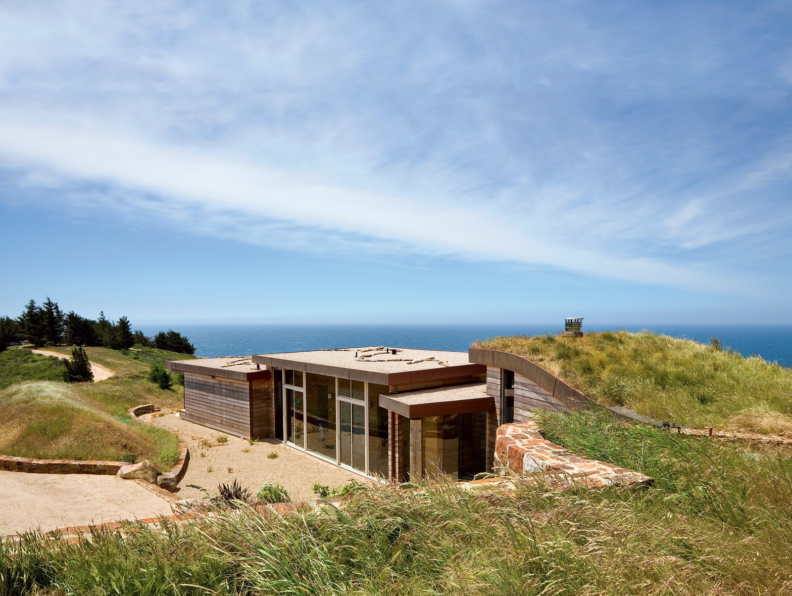 Architect Mary Ann Schicketanz created a 1,900-square-foot home in Big Sur, California, that hugs its hillside site.  Photo 1 of 6 in Big Sur: Going Coastal