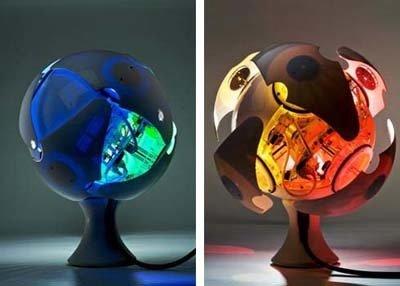 Photo 1 of 1 in Shaping-Shifting Desktop Lamp Mimics Natural Light…Artificially.