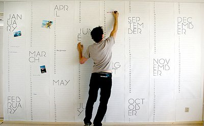 Photo 1 of 1 in Wall Calendar to Keep Track of the Big Picture