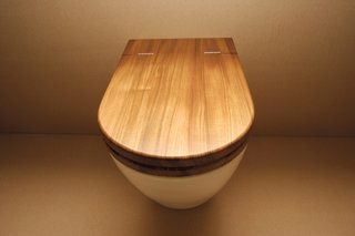 Inspired Indoor Teak Looks - Photo 5 of 14 - Toilet seat in teak by William Garvey.