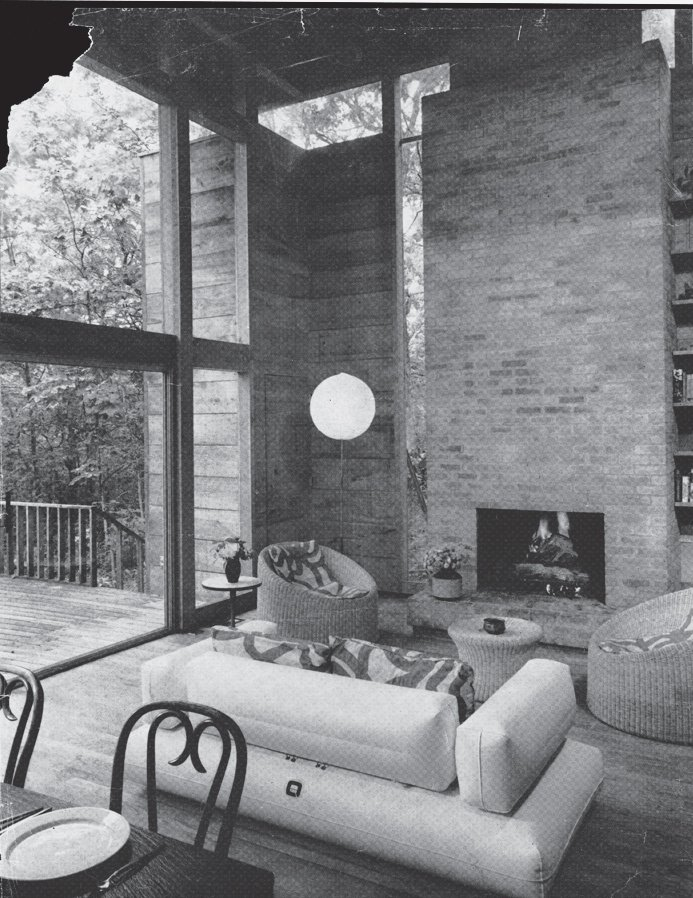 The living room, before renovation.  Photo 3 of 17 in Long Island Summer Home Gets a Modern Addition