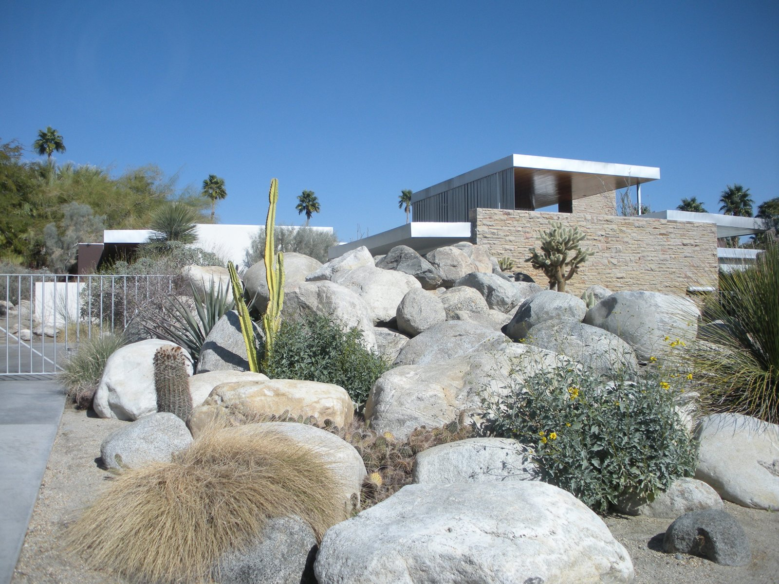 In the 1940s, Edgar J. Kaufmann, a Pittsburgh department store giant and the same Kaufmann who commissioned Frank Lloyd Wright to build his Falling Water home in Pennsylvania, asked architect Richard Neutra to built a vacation home for his family in Palm Springs. The resulting home is now one of Neutra's best-known works.  Photo 1 of 7 in Palm Springs, California