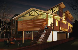 Breezeway (exterior) by Jessica Dan and Hamza Alhbian of McGill University, Winning Design