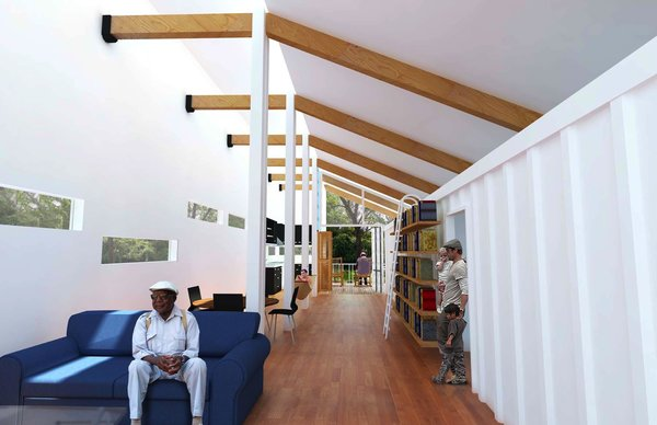 Forever Green (interior) by David Dworkind and Andrew Hruby of McGill University, Winning Design
