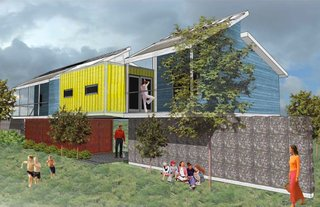 The Lakeview House (exterior) by Thomas Colosino and David Lachin of Louisiana State University, Winning Design