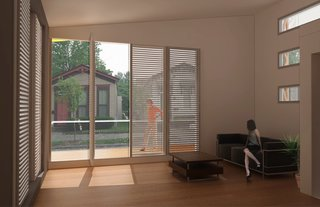 Wood Frame House (interior) by Lilia Koleva and Philippe Larocque of McGill University