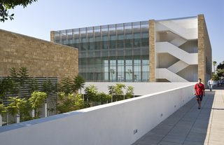 Top Ten Green Projects - Photo 3 of 20 - Charles Hostler Student Center (exterior view) in Beirut, Lebanon, by Vincent James Associates Architects. Photo by Paul Crosby.