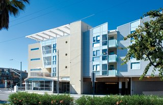 Top Ten Green Projects - Photo 5 of 20 - Gish Family Apartments (exterior view) in San Jose, California, by The Office of Jerome King Architecture and Planning. Photo by Bernard André Photography.