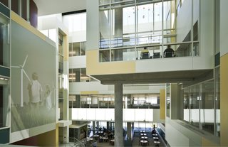 Great River Energy Headquarters (interior view) in Maple Grove, Minnesota, by Perkins + Will. Photo by Lucie Marusin.