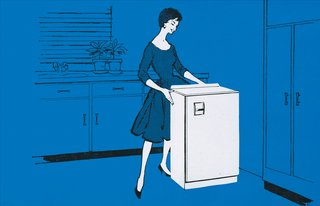 An Introduction to Kitchen Design - Photo 4 of 7 - A 1950s illustrated advertisement for the Morphy Richards Astral refrigerator.