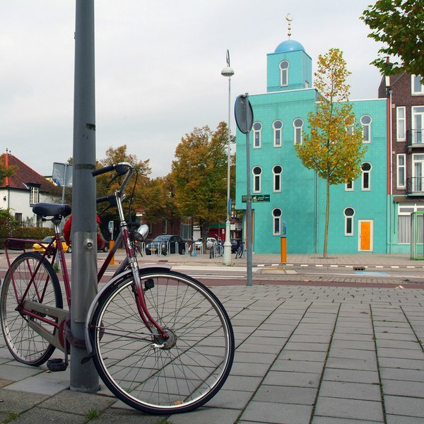The El Mouhssinine Mosque in North Amsterdam photographed by Dick Barendsen.
