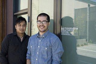 Donerik Dela Cruz (left) and Aaron Pou (right), co-principals and creative directors of Autograph