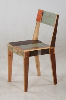 Piet Hein Eek's Oak Chair in scrap wood