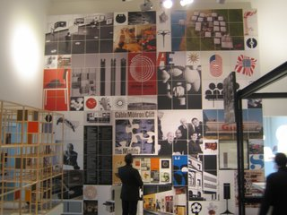 Touring Switzerland: Day 4 - Photo 2 of 3 - This wall of George Nelson's graphic design, photos, books and exhibition work was one of the most impressive elements of the show.