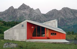 The Donning Community Building, constructed in 2006. Image courtesy Jarmund/Vigsnæs AS Architects MNAL.