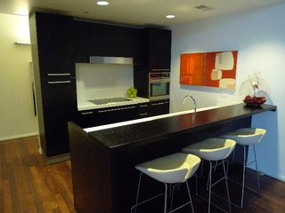The demo kitchen with Poliform, Sub-Zero and Kuppersbusch appliances, at the W Hollywood Welcome Center.
