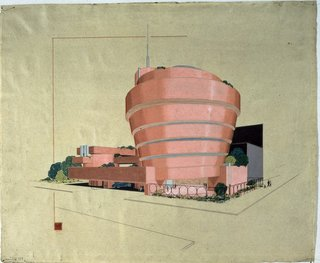 I loved this early sketch for the Guggenheim Museum in New York. Imagine if it were pink!