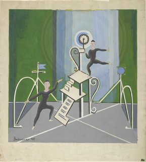 """This bit of set design by Mihail Fedorovitch Andreenko was done in 1927 for the ballet """"The Acrobats."""" It's one of my favorites from the show Creating the Modern Stage."""