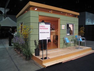 Modern Shed, based in Seattle, set up their popular 10-foot-by-twelve-foot Studio Shed on the exhibition floor.