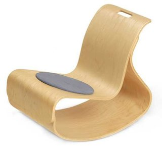 The Mod Rocker is available in maple with clear finish, cherry stain and walnut and can easily sustain about 450 lbs.