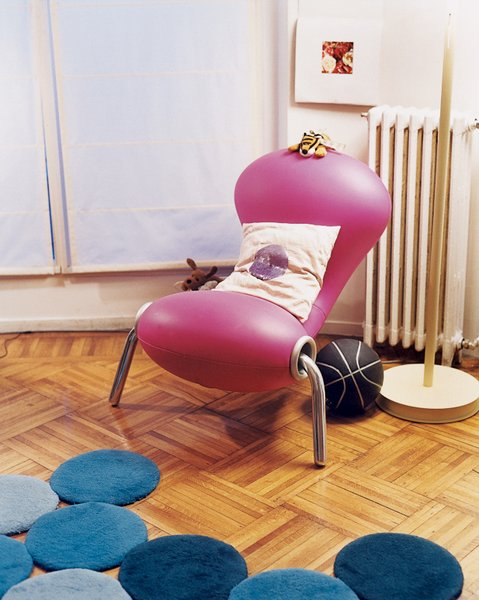 The Marc Newson Embryo chair dates from 1988.  Photo 10 of 14 in Like a Kid in a Candy Store