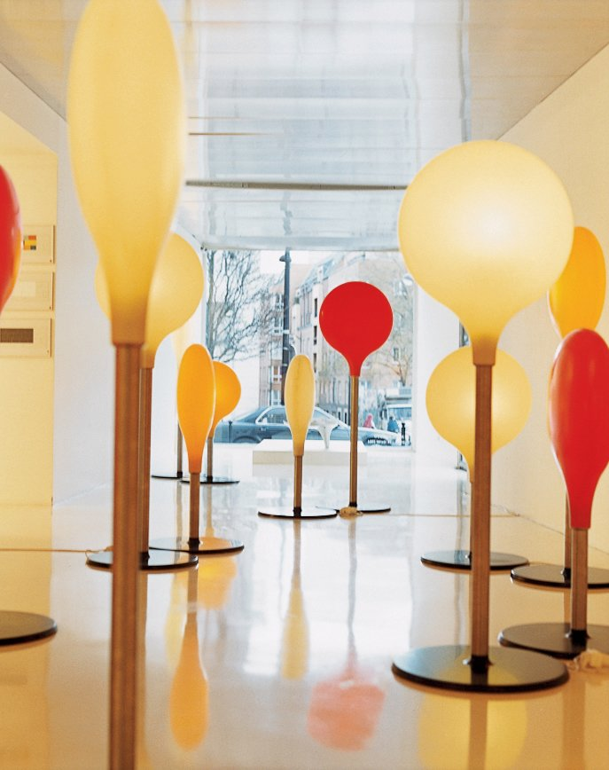 At Krzentowski's Galerie Kreo, Diode lamps designed by Marc Newson have been produced in a limited edition of 18 pairs exclusively for an exhibition.  Photo 14 of 14 in Like a Kid in a Candy Store