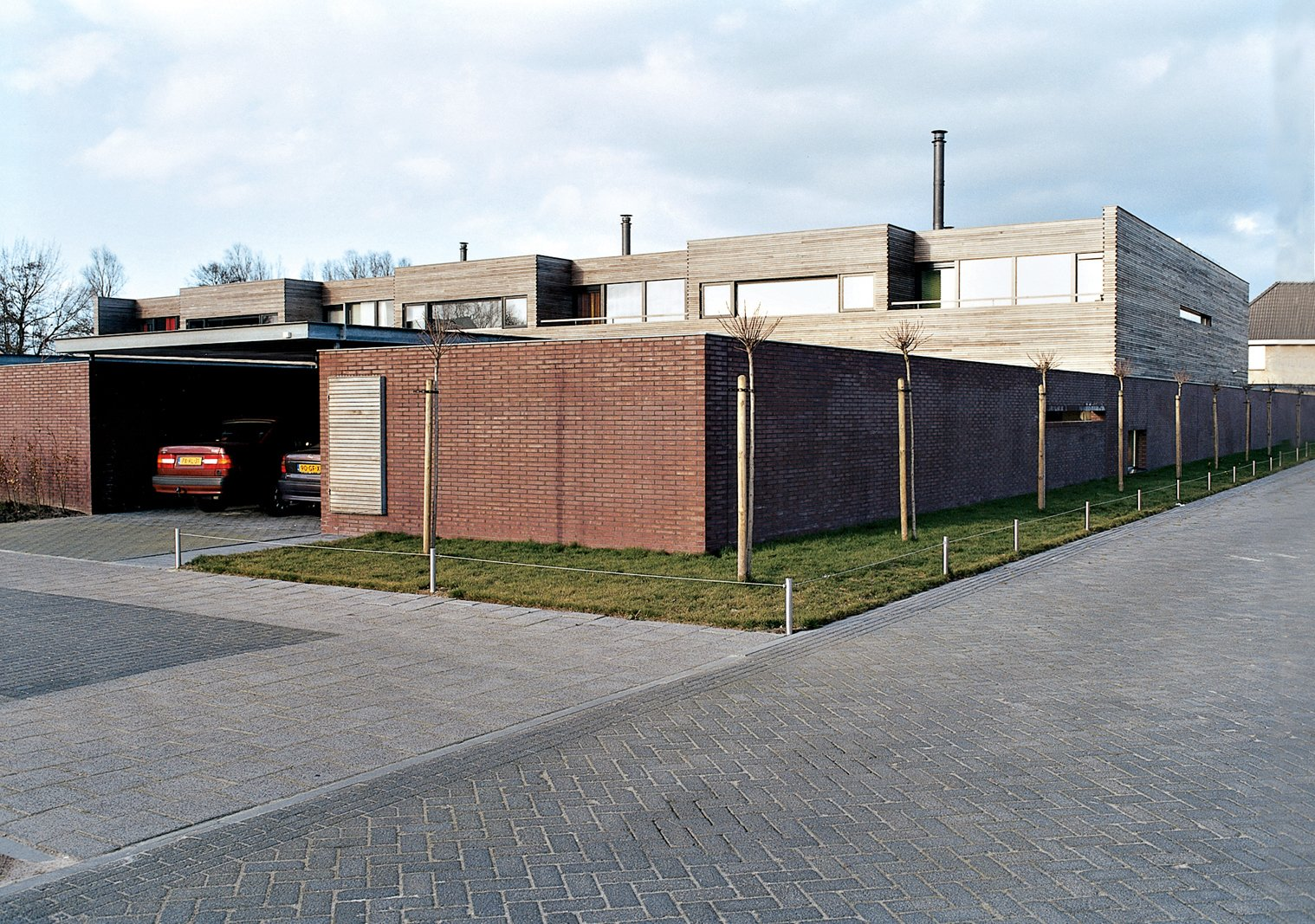 Exterior Architect Pascal Grosfeld designed seven houses on this plot of land in suburban Holland. The Collettes worked closely with him to make their residence distinct from the neighboring houses and more in keeping with their personal vision of home.  Photo 2 of 7 in Furniture Fascination