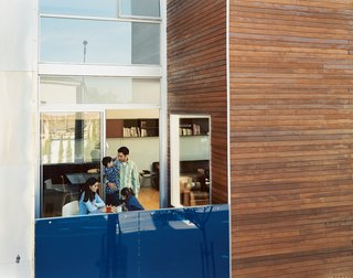 """Making Sense of the City - Photo 1 of 11 - The Mariscal family enjoys the first-floor patio, which Sebastian calls their """"exterior room."""""""