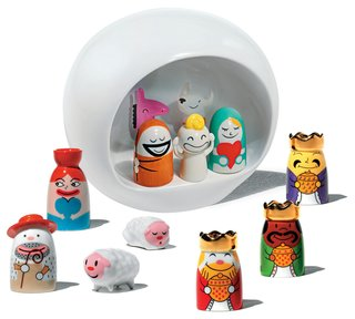 Alessi's Fall/Winter Collection - Photo 4 of 14 - Nativity collection by LPWK and Massimo Giacon for A Di Alessi.<br><br>If you're inclined to do a little holiday decorating around the home, this small ceramic Nativity scene is pretty cute. Check out those sheep!