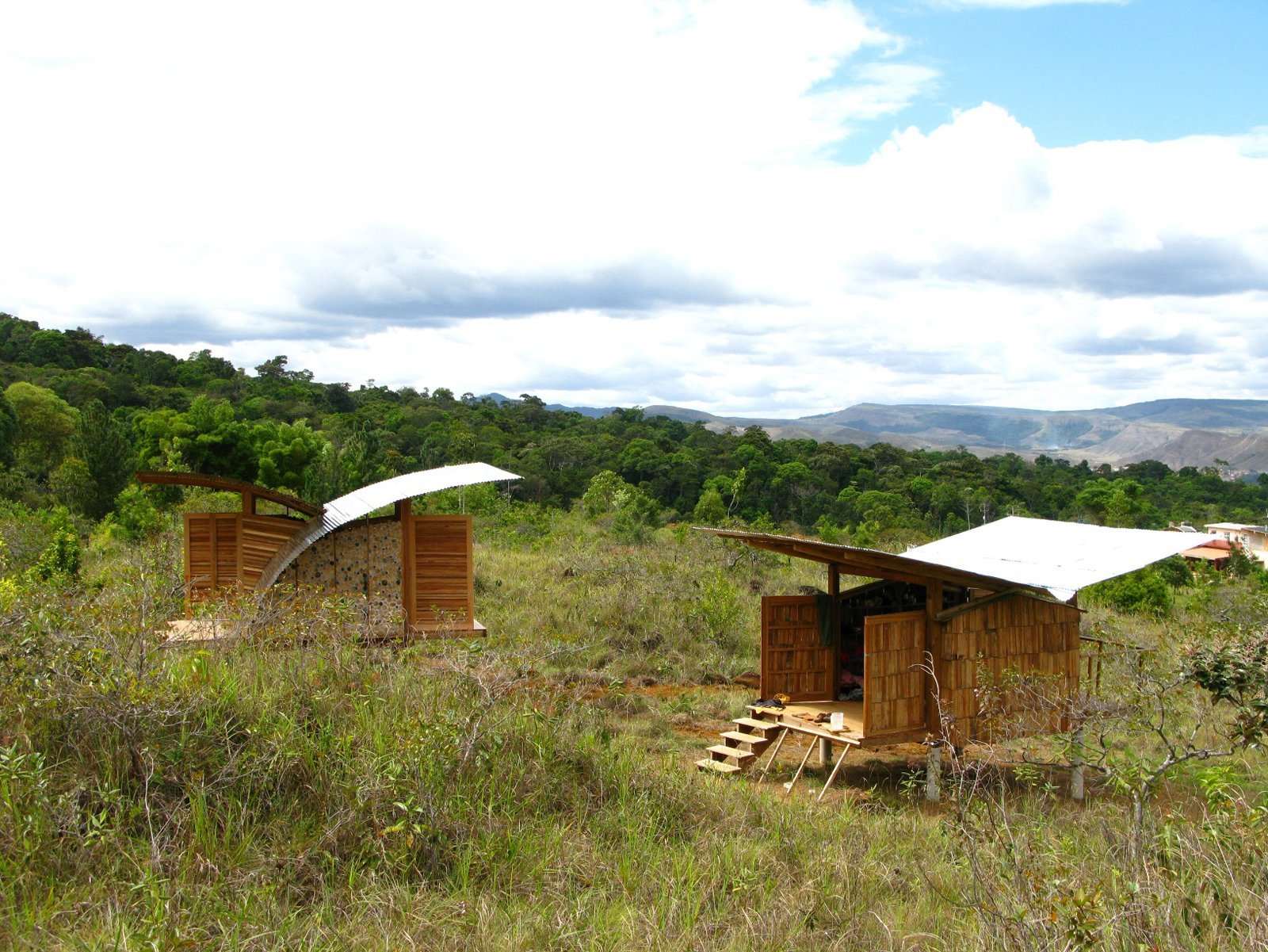 The first two cabanas to be built in Santa Elena will always stand as points of reference in projects the locals undertake in the future.  Photo 13 of 13 in Venezuela's Eco Cabanas