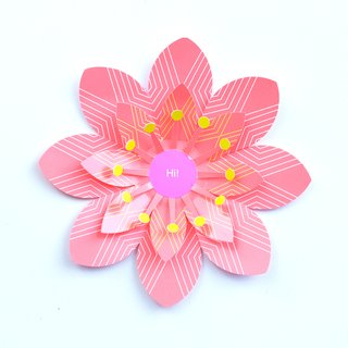 Blooms pop-up card by Artecnica
