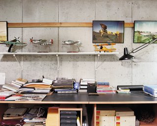 Cohen was once a pilot and his office houses the ephemera of decades spent flying around New York and New England.