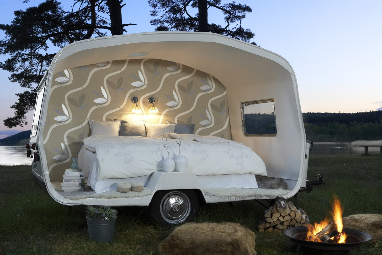 Exterior and Camper Building Type  DecorMaison Wallpaper by Sarah Rich