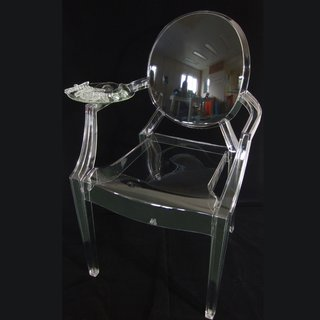 Thelermont Hupton adds a plate of British fare to the chair, camouflaging it by using the same material as the chair.
