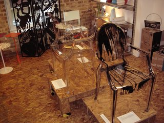 Valentina Gonzalez Wohlers and Pure Evil chairs