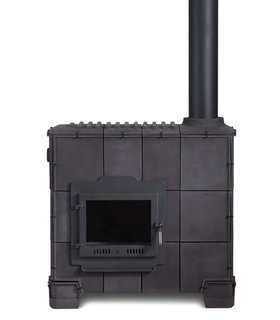 Dick Van Hoff's Tile Stove for Royal Tichelaar Makkum, currently on display at Gallery Libby Sellers.